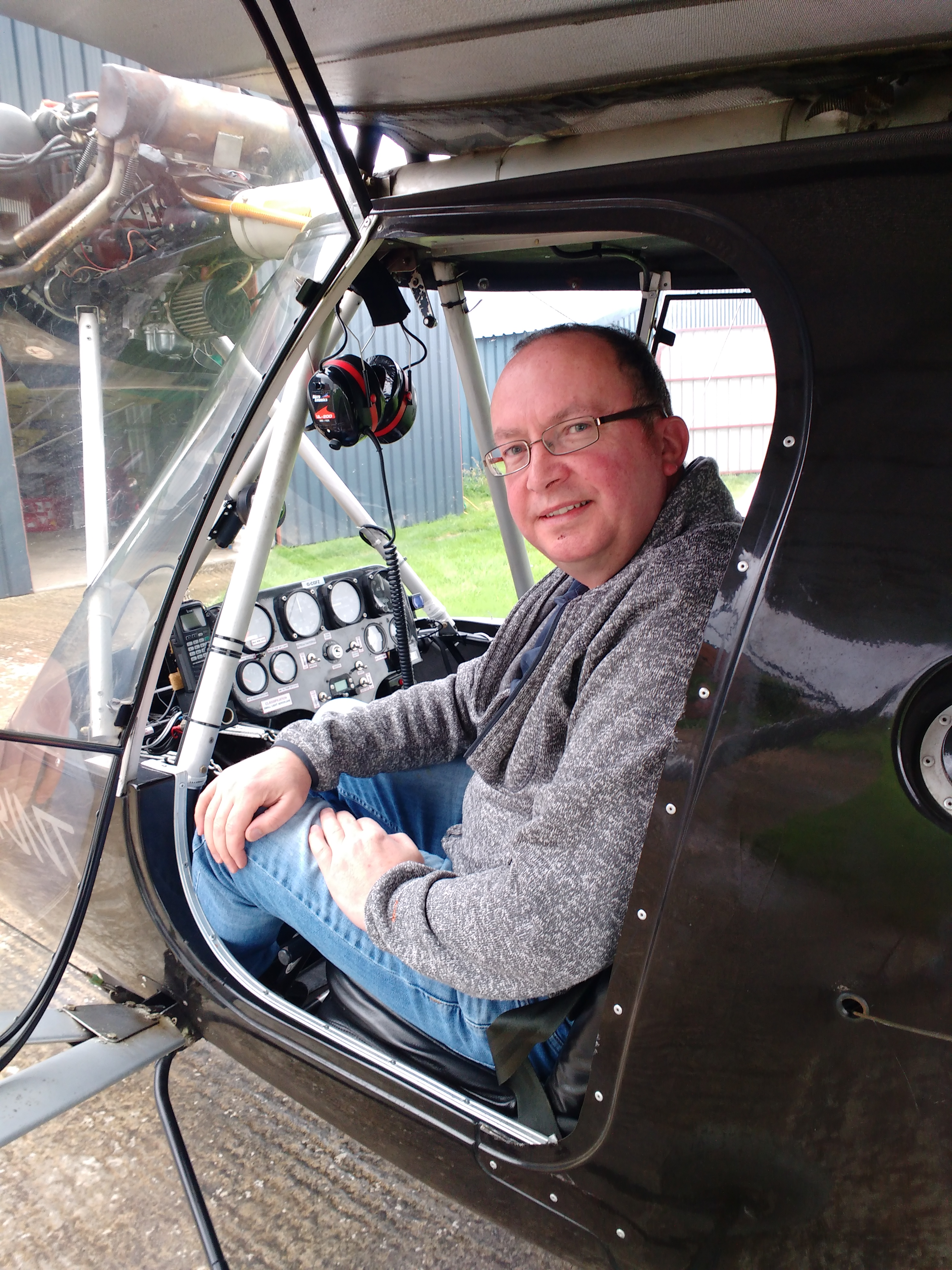 Gary Crosbie completes his first solo flight.