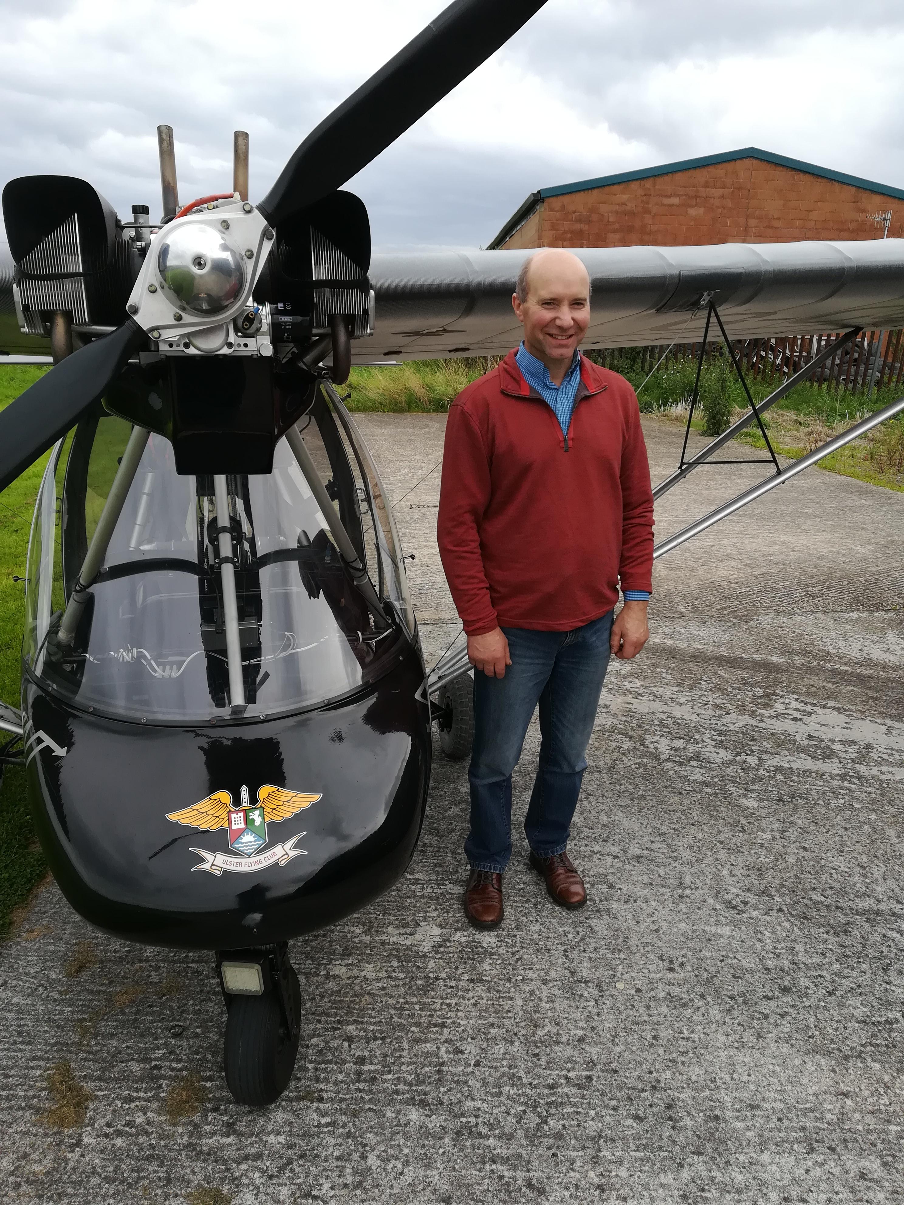 Edwin Calvin wins his Pilot's License