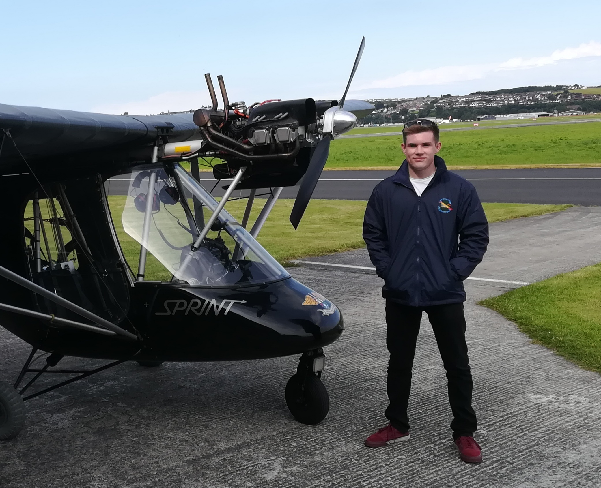 BMAA bursary results in Tom Martin getting his Pilot's License