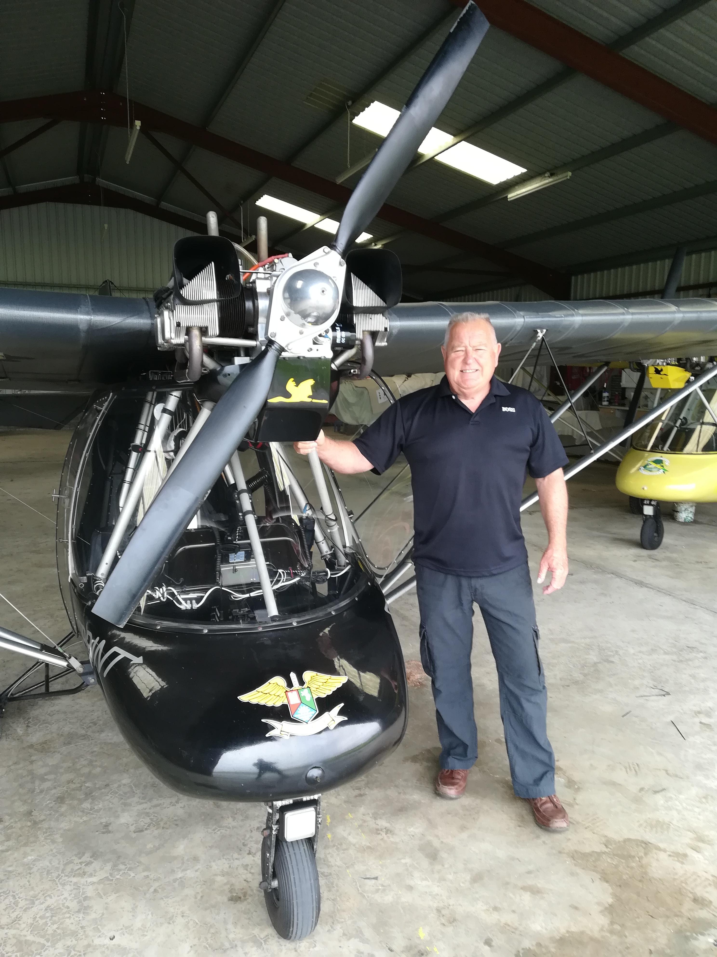 Doug King adds UK Microlight License to his collection